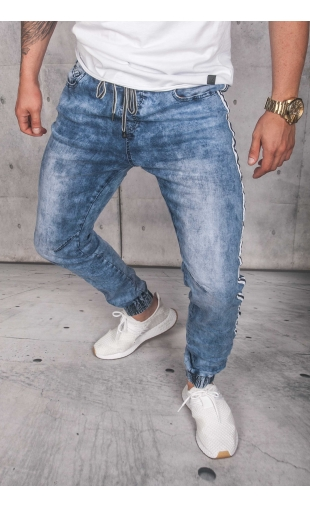Spodnie jeansowe joggery T982