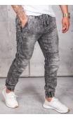 Spodnie jeansowe joggery szare T285