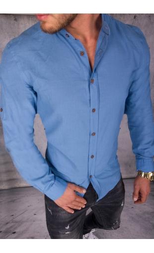 Koszula męska niebieska MB-101