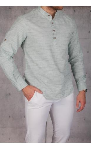 Koszula męska zielona MB-111