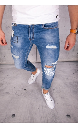 Spodnie jeansowe rurki ritter R61