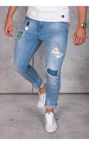 Spodnie jeansowe rurki ritter R62