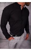 Koszula męska czarna stójka lato img-001