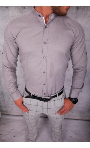 Koszula męska szara stójka lato img-002