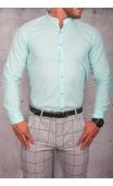 Koszula męska zielona stójka lato img-003