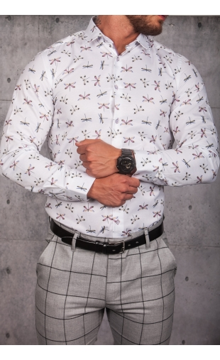 Koszula męska biała wzór ESP-10