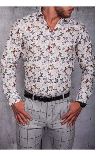 Koszula męska biała wzór ESP-11