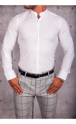 Koszula męska biała stójka img-011