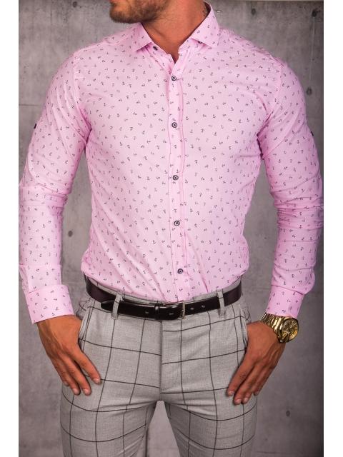 Koszula męska różowa wzór img-013
