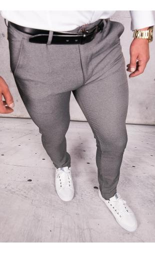 Spodnie męskie chinosy materiałowe grafitowe DJ-8