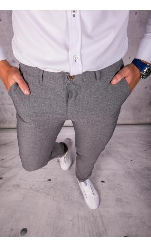 Spodnie chinosy materiałowe szare DJ-13