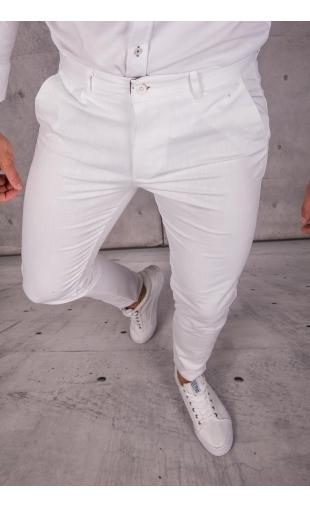 Spodnie chinosy materiałowe białe DJ-19