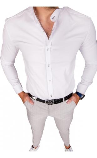 Koszula męska biała stójka img-018
