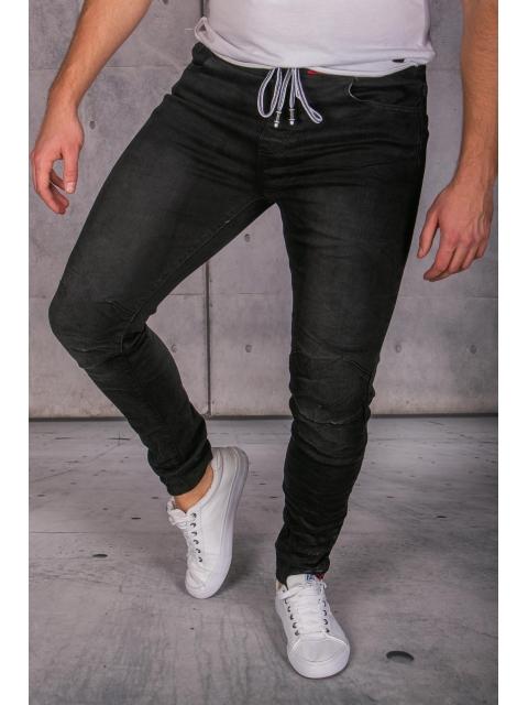 Spodnie jeansowe joggery czarne Iteno