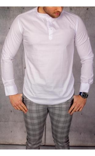 Koszula męska biała stójka img-021