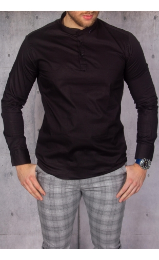 Koszula męska czarna stójka img-021-1
