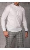 Koszula męska biała stójka img-022-1