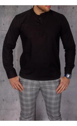 Koszula męska czarna stójka img-022
