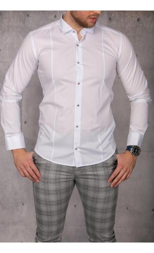 Elegancka koszula męska biała img-023