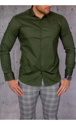 Elegancka koszula męska zielona img-024