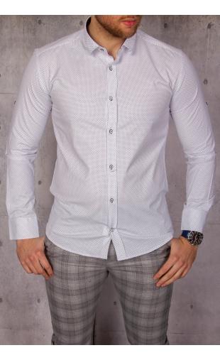 Elegancka koszula biała w kropki img-025
