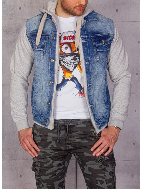 Kurtka jeansowa męska BLVCK