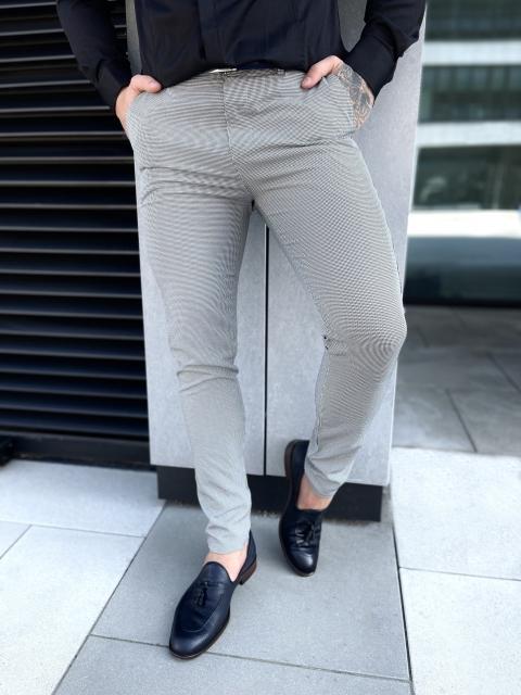 Spodnie chinosy materiałowe dj-37 szare