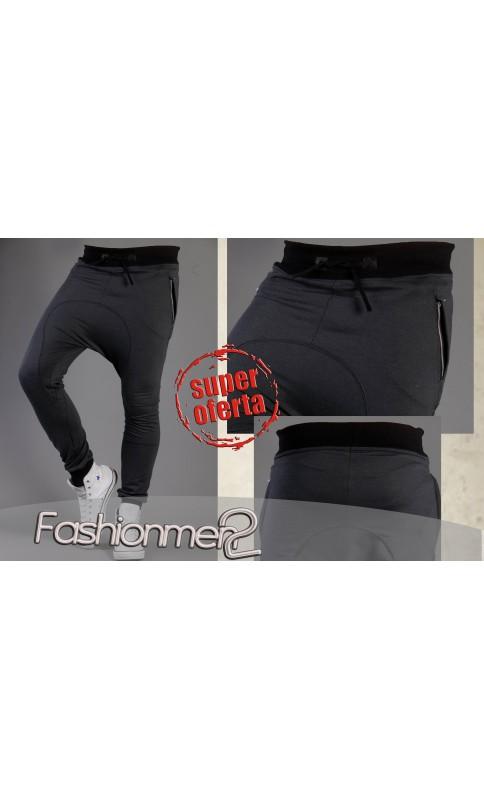 BAGGY MĘSKIE DRESY GRAFIT ŚCIĄGACZE - FashionMen 186dfc5075