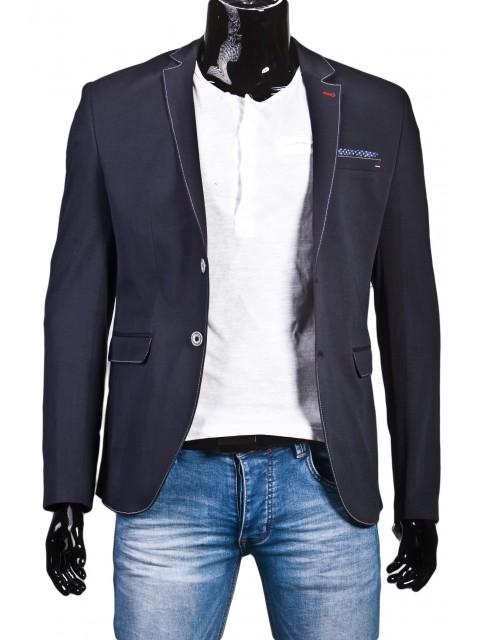 369725dd35cb3 MODNA MARYNARKA MĘSKA BB GRANAT PRĄŻEK - FashionMen