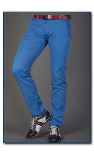 Spodnie chinosy błękitne 2330